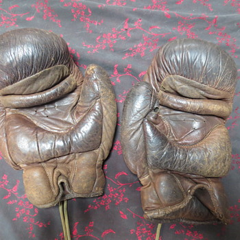 vintage straw filled boxing gloves