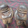 vintage straw filled boxing gloves