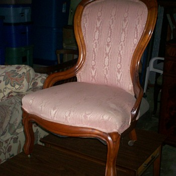 chair with satin fabric