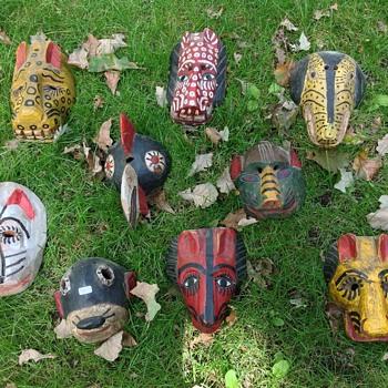 Guatamalan animal dance masks - Visual Art