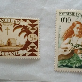 Stamps via France via Libre & Polynesia - Stamps