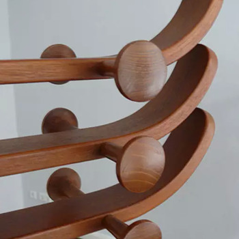 danish Teak coat rack Ebbe Gehl and Soren Nissen for Aksel Kjersgaard