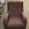 Mid century reclining type club chair
