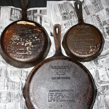 Wagner Cast Iron Skillet 100 year Anniversary Set.    - Kitchen