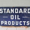VINTAGE STANDARD OIL PRODUCTS DOUBLE SIDED PORCELAIN SIGN!!