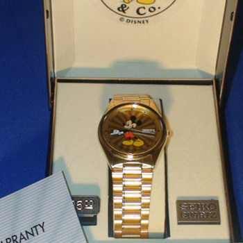 1987 Seiko Gold plated Mickey - Wristwatches