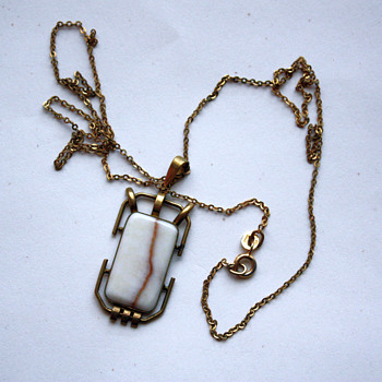 Tombac chain and pendant - Costume Jewelry