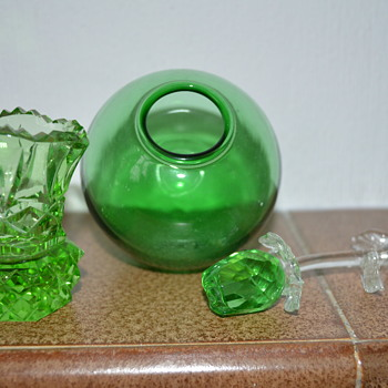 Green glass items