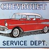 Chevrolet advertisement wall tin