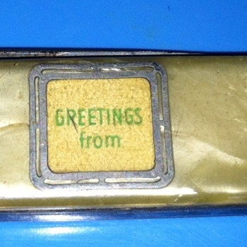 Greetings from.../Quaker State | (Unusual Advertisement) Vintage pocket knife