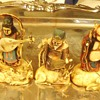 Japanese 7 Lucky Gods  Celluloid?  Vintage  Beautifully hand painted!