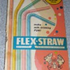 Vintage 1960s Flex Straws w/ Original bubble gum
