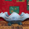 Northwood or Jefferson Blue Opalescent Ruffled Bowl.