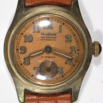 """Military"" brand men's wristwatch, late 1940s. - Wristwatches"