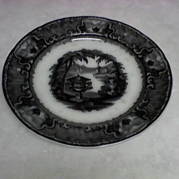PODMORE WALKER MULBERRY PLATE  1800/1849