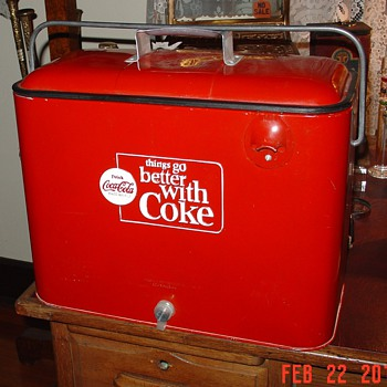 1960&#039;s...Things Go Better With Coke...Embossed Coca-Cola Cooler
