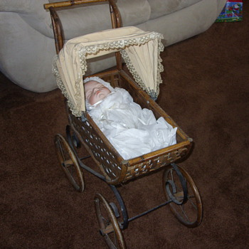 joyce a wolfe doll sleeping away in her stroller - Dolls