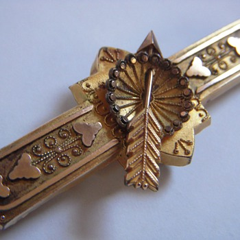 My 101st Posting! A Curious Gold Plated Pin w/Spinning Arrow - Fine Jewelry