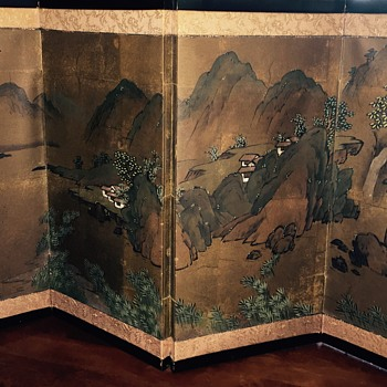 Japanese screen panel artwork