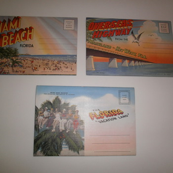 Souvenir folding postcards from Florida - Postcards