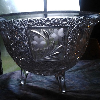 eapg? cut glass bowl - Glassware