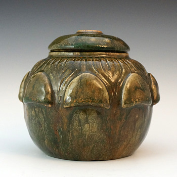 André Methey Flambé Glazed Stoneware Covered (Tobacco?) Jar - Circa 1900 - Art Nouveau