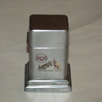 RCA promotional table lighter - Tobacciana