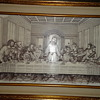 Marble etching by R.G.Karlic last supper picture