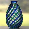 Archimede Seguso Ribbed Vase