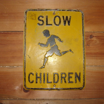 slow children embossed sign