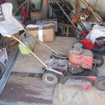 "the 1969 Toro Commercial 23000, 21"" Whirlwind Hevi-Duty Lawnmower with a factory Tecumseh V50 motor, and original bagger."