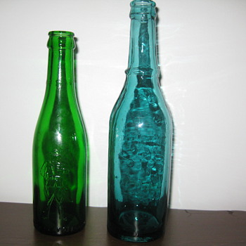 Two old beer bottles