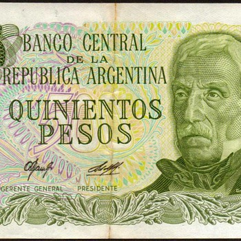 Argentina - (500) Pesos Bank Note