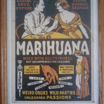 1936 marihuana movie poster type b - Posters and Prints