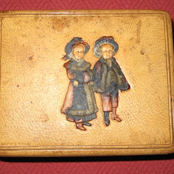 Leather Covered French Made Trinket Box - Furniture