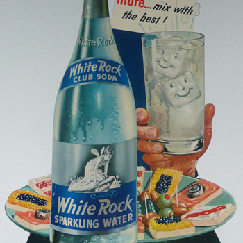 White Rock Club Soda Sparkling Water Cardboard Stand Up  - Signs