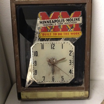 1939 Minneapolis moline advertising clock