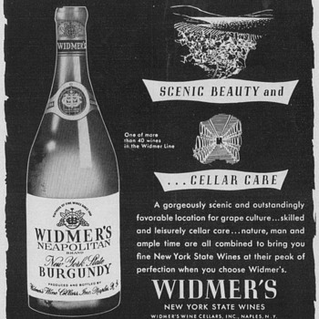 1953 Widmer's Wine Advertisement - Advertising