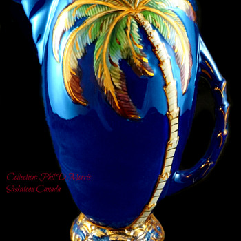 Beswick Largest Jug, Over 11 1/2 Inch Jug, Cobalt Blue, Painted & Gilt. High Gloss