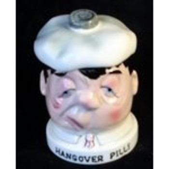 1960 Shafford Co. Hangover Pills Figural jar - Bottles