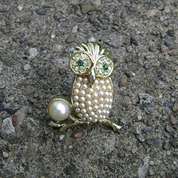 Sarah Coventry Brooch - Night Owl - Costume Jewelry