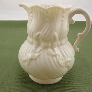 Belleek Ribbon Creamer - 3rd black mark