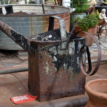 Very old and heavy Watering Can - Old Roofing Tool