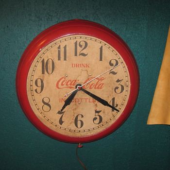 Old Coke Clock very rare - Coca-Cola