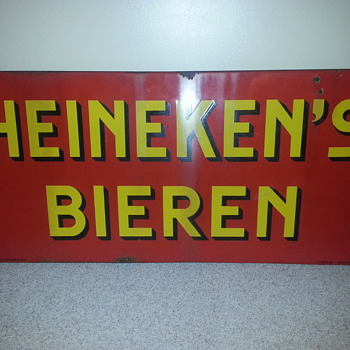 Dutch pre import langcat bassum Heineken beiren sign - Advertising