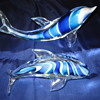 Veni Signed Twisted Blues Dolphin Pair