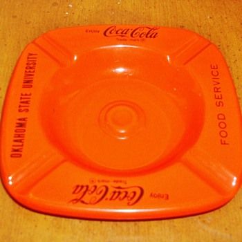 Coca Cola / Oklahoma State University Ash Tray