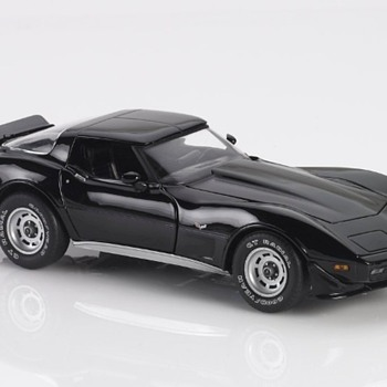 1979 Franklin Mint Black Chevrolet Corvette - Model Cars