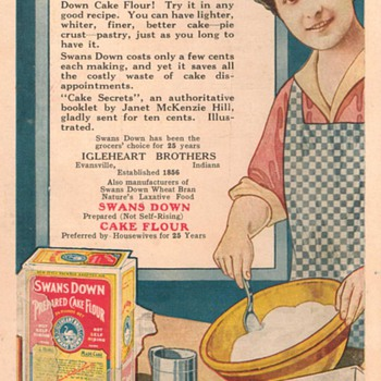 1921 - Swans Down Advertisement