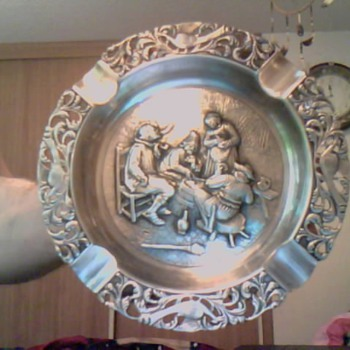 silver ashtray - Sterling Silver